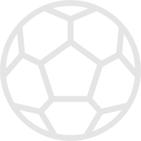 Arsenal v Manchester United official colour teamsheet 03/11/2007 Premier League