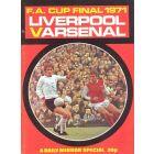 1971 FA Cup Final Daily Mirror brochure