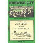 Norwich City official handbook 1949-1950