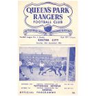 Queen's Park Rangers v Exeter City Football Programme in mint condition for the match played on the 26th September 1953.