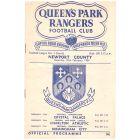 1954 football programme queens park rangers v newport county