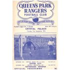 Queen's Park Rangers v Crystal Palace Football Programme for the match played on the 21st September 1953 in mint condition.