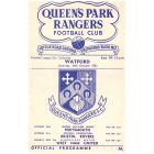 Queen's Park Rangers v Watford Football Programme for the match played on the 24th October 1953 in mint condition.