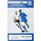 Shrewsbury Town v Crewe Alexandra official programme 24/08/1968 League