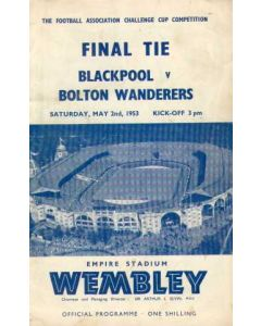 1953 FA Cup Final Programme