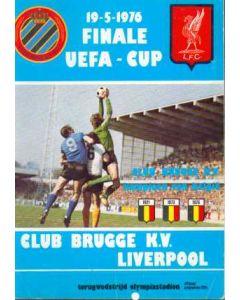 1976 UEFA Cup Final Official Programme Bruges v Liverpool