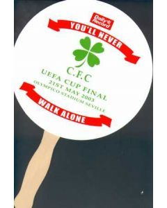 2003 UEFA Cup Final Celtic v Porto Fan Given Out At the Stadium