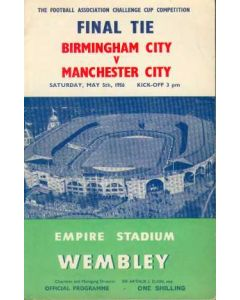 1956 FA Cup Final Programme