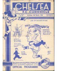 Chelsea v Portsmouth 09/03/1940