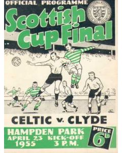 1955 Celtic v Clyde Cup Final Programme