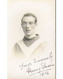 1916 Leeds City very rare autographed Postcard H Sherwin