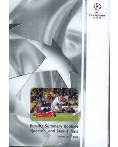 2001-2002 Results Summary Booklet Quarter- and Semi-Finals