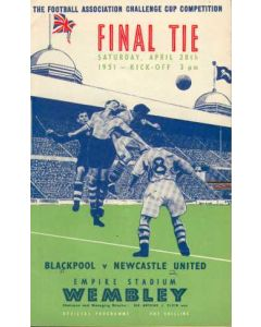 1951 FA Cup Final Programme
