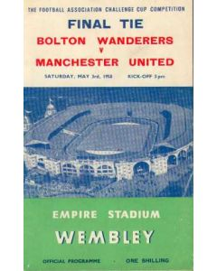 1958 FA Cup Final Programme 03/05/1958