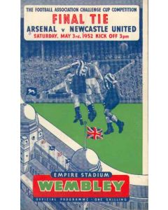 1952 FA Cup Final Programme Arsenal v Newcastle