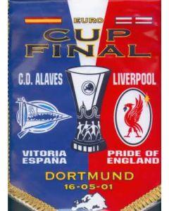 2001 UEFA Final Liverpool V Alaves Pennant