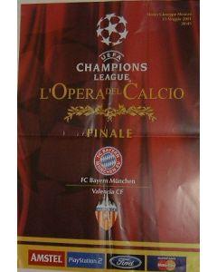 2001 Champions League Final Poster