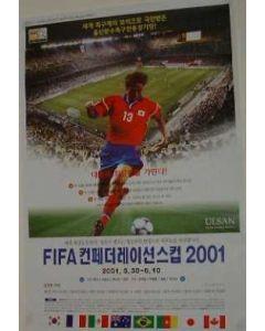 2001 Ulsan Confederation Cup Poster
