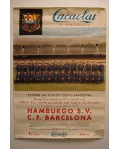 Barcelona v Hamburg poster 20/11/1963 European Cup Winners Cup