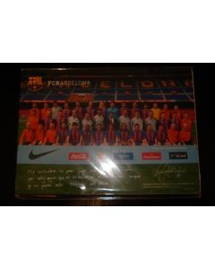 2005 Barcelona on Tour Japan poster card, a sticker and some pictures