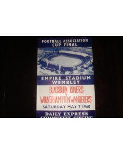 1960 FA Cup Final song sheet