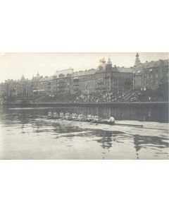 1912 Olympic Games in Stokholm postcard, featuring rowing