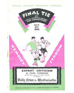 1928 FA Cup Final Programme with two newspapers cuttings of the same game inside Very Rare!
