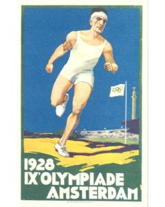 1928 IX. Olympic Games in Amsterdam colour postcard