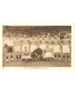 1928 IX. Olympic Games in Amsterdam postcard featuring the Italian football team