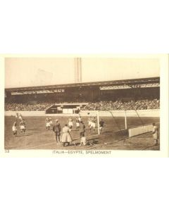 1928 IX. Olympic Games in Amsterdam postcard featuring football Italy v Egypt