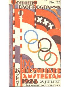 1928 IX. Olympic Games in Amsterdam official Opening Ceremony programme 28/07/1928