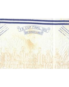 1931 FA Cup Final West Bromwich Albion coffee table cloth Very Rare!