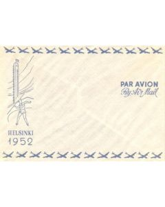 15th Olympics Helsinki 1952 By Air Mail unused envelope