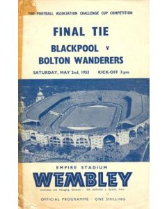 1953 FA Cup Final Programme, reduced price