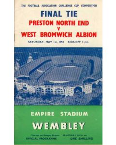 1954 FA Cup Final Programme