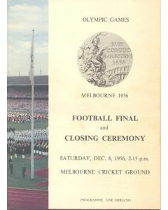 1956 Olympics in Melbourne - Football Final and Closing Ceremony 08/12/1956 official programme