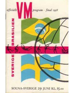 1958 World Cup Final Brazil V Sweden