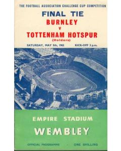 1962 FA Cup Final Programme