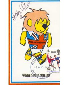 Nobby Stiles Signed World Cup Willie First Day Cover