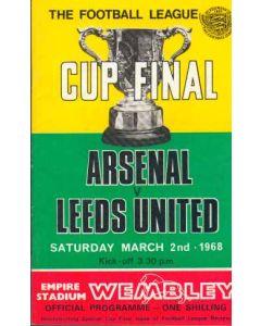 1968 League Cup Final Programme