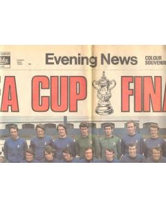 1970 Chelsea v Leeds United FA Cup Final match Evening News newspaper of April 1970