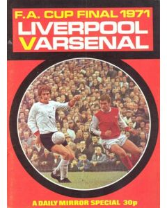 1971 FA Cup Final Daily Mirror brochure