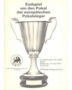 1975 Cup Winners Cup Final Official Programme Dynamo Kiev v Ferencvaros 14/05/1975