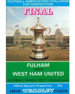 1975 FA Cup Final Programme