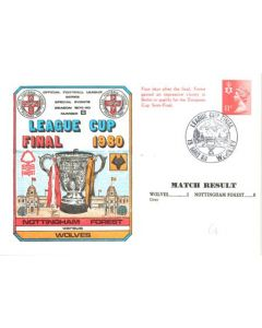 1980 League Cup Final First Day Cover 15/05/1980