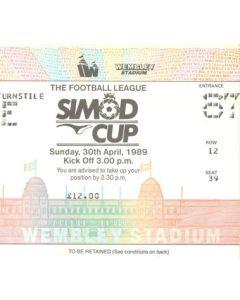 1989 Simod Cup Final ticket 30/04/1989 Everton v Nottingham Forest