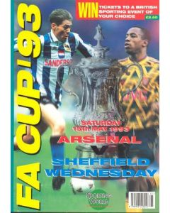1993 Sporting World Publications Magazine special edition for the 1993 FA Cup Final played between Arsenal and Sheffield Wednesday