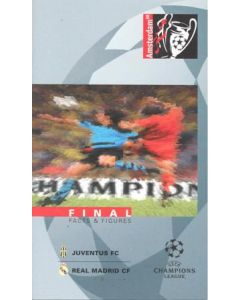 1998 Champions League Final Juventus v Real Madrid VIP Facts & Figures booklet 20/05/1998