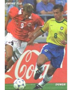 1998 World Cup in France - Andre Flo & Dunga postcard