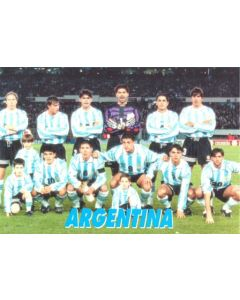 1998 World Cup in France - Argentina Team postcard
